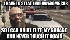Grand Theft Auto, Fan Art, PC, Xbox One, Playstation. Gta v problems lol Gamer Humor, Gaming Memes, Grand Theft Auto, Gta Funny, Funny Pics, Funny Shit, Funny Quotes, Gta Logic, Rockstar Gta 5