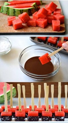 45 party finger food ideas: simple, quick and delicious! - watermelon party finger food ideas chocolate Informations About 45 Party Fingerfood Ideen: Einfach, - Party Finger Foods, Snacks Für Party, Fruit Snacks, Parties Food, Fruit Party, Tea Parties, Fruit Kabobs, Party Desserts, Tea Party Foods