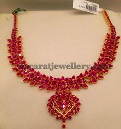 Jewellery Designs: Attractive Ruby Set 35gms