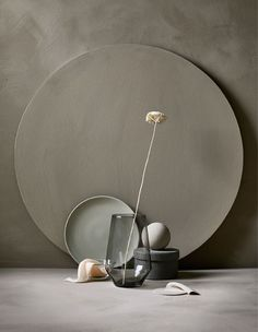 An arrangement of an IKEA PS 2017 vase in gray and a flower, a plate .:separator:An arrangement of an IKEA PS 2017 vase in gray and a flower, a plate . Ikea Ps, Carved Wood Wall Art, Art Carved, Prop Styling, Minimalist Living, Minimalist Style, Still Life Photography, Art Photography, Wabi Sabi