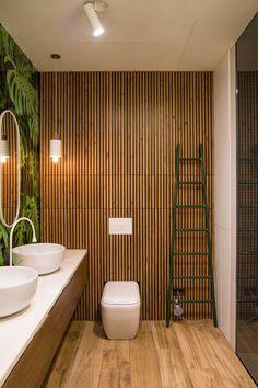 〚 Awesome modern apartment in Kyiv, Ukraine, by Alyona Makagon 〛 ◾ Photos ◾Ideas◾ Design Tropical Bathroom, Small Bathroom, Nature Bathroom, Bathroom Design Luxury, Bathroom Designs, Apartment Interior Design, Tile Design, Bath Design, Luxury Home Decor