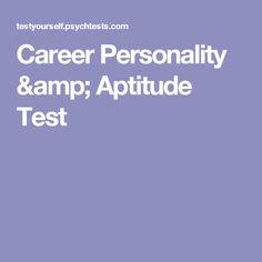 Career Personality & Aptitude Test