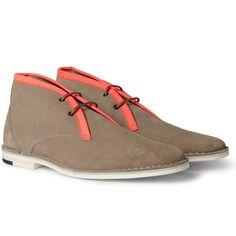 Contrast-Trim Chukka Boots by Pierre Hardy