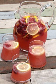 Pink Homemade Lemonade Mixed Drink