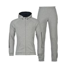 Grey Melange Men's Hooded Jacket Wholesale