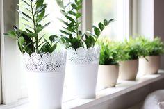 Love these crochet style flower pots from ikea!