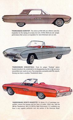 1963 Ford Thunderbirds: Hardtop, Convertible and Sports Roadster