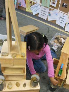 A Reggio Emilia-Inspired Classroom Transformation Reggio Classroom, Classroom Design, Classroom Ideas, Educational Activities, Preschool Activities, Block Area, Block Center, Heuristic Play, Country Day School