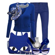 """""""Cobalt Blue Cat"""" by cavell on Polyvore"""