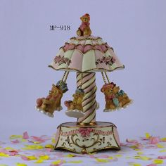 SMALL-ORDER ZONE: Junxin Vintage Merry-go-round Carousel 6-horse 7 ...
