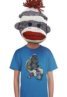gorilla t-shirt funny kids tricycle tshirt gifts for by apesnort