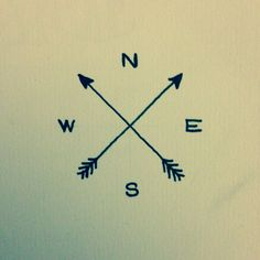 Arrow Compass Tattoo Idea
