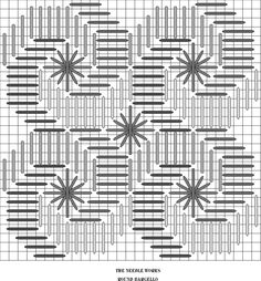 ROUND BARGELLO-jULY 21  Love this stitch. You will also see it called Interlocking Chevrons and Silly Stitch. It's a form of Bargello.