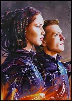 Katniss and Peeta from The Hunger Games.