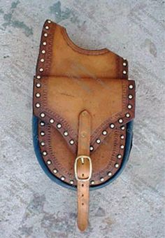 Leather Western Horn Saddlebag
