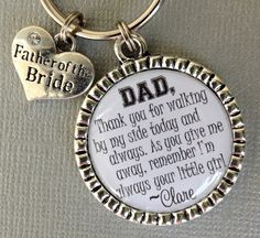 FATHER of the BRIDE gift Father of Groom PERSONALIZED by buttonit, $16.00