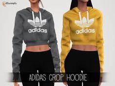 The Sims 4 Elliesimple - Adidas Crop Hoodie