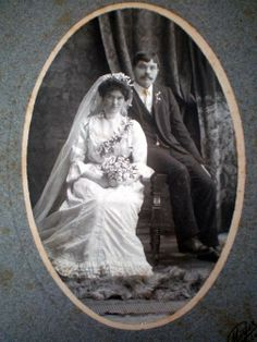 Vintage Wedding Photograph Cabinet Card by downfromtheattic, $9.99