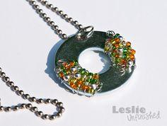 Leslie Unfinished: Camp Craft: Washer Necklaces
