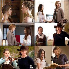 Rebecca (Pamela) and Ann Ewing season 1!  (Julie Gonzalo and Brenda Strong)