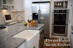 We included a nice farm sink in this kitchen remodel!