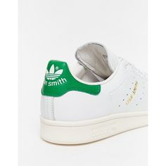 Shop adidas Originals White   Green Stan Smith Trainers at ASOS. 5160c7ed9e9