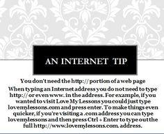 An Internet Tip