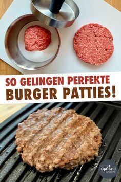 Burger Patties selber machen - so einfach geht's! You can find out how to make perfect burger pattie