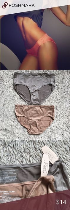 2-VS Hiphugger Briefs-NWT 2 pairs of Victoria's Secret hiphugger/culotte classique briefs. One in gunmetal grey and the other is nude. Both are new with tags and come in the original bag. Sold out. Victoria's Secret Intimates & Sleepwear Panties