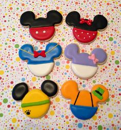 MIckey Mouse Clubhouse Themed Sugar Cookies by SweetestMomentsNJ, $36.00