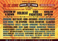 das nächste Nova Rock Musikfestival findet ab dem 10. Juni 2020 statt #novarock #musikfestival Nova Rock, Festivals, 100 Bands, Billy Talent, Alter Bridge, Open Air, Bring Me The Horizon, Korn, Juni