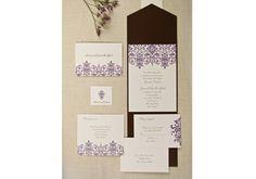 Wedding Invitations by RM Creative Events, Inc. Pretty pocket style invitation.