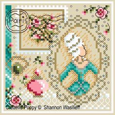 E Fabulous Feathers Bead Owl By Shannon Wasilieff Cross Stitch Chart