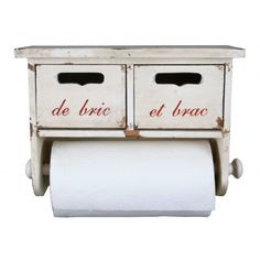 French Vintage Style Kitchen Roll Holder