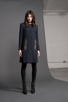 RE'13 Look 1 (w/o the bow-legged stance) substitute my Gucci (also slightly shorter or my belted, double-breasted softly/charcoal jacket wh. Extends to below-derrière length