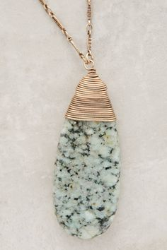 Anthropologie Charm Necklaces | Anthropologie Sierra Madre Pendant Necklace in Green | Lyst