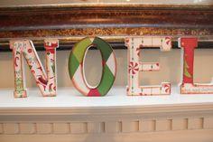 NOEL Wooden Vintage Mantle Letters by YondeeCelebrations on Etsy