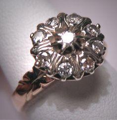 Antique Diamond Wedding Ring Vintage Victorian Georgian. $2,450.00, via Etsy.
