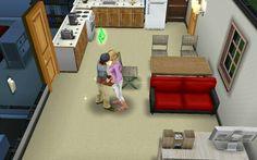Engaged kiss