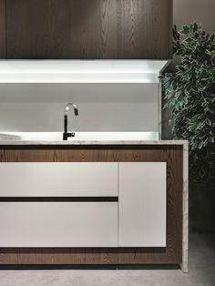 Cozinha linear com puxadores integrados OPERA   Cozinha linear by ELAM