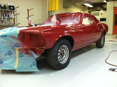 Mustang during restoration