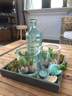 25 beste idee n over lente decoraties op pinterest for Boomschijven decoratie