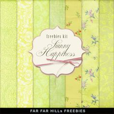 Far Far Hill - Free database of digital illustrations and papers: New Freebies Kit of Background - Sunny Happiness