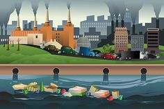 Buy Pollution Concept by artisticco on GraphicRiver. A vector illustration of pollution in the city for pollution concept. Vector illustration, zip archive contain eps City Drawing, Water Pollution, Destroyer Of Worlds, City Illustration, City Art, Free Illustrations, Global Warming, Game Design, Art Images