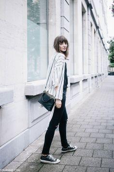 POLIENNE | wearing a RAINS raincoat, VILA kimono, DIESEL denim & CONVERSE sneakers
