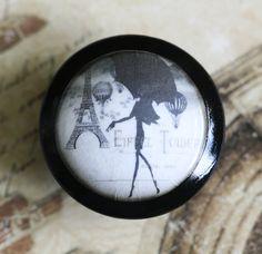 Vintage Knobs A Day In Paris Door Pull. $6.50, via Etsy.