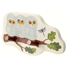 VANDRING Knob rack with 2 knobs - IKEA: cute idea... love nature/animal theme... into the woods to play!