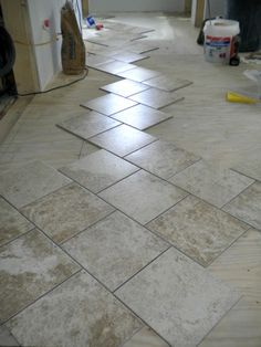 Use A Square Tile With A Brick Set Joint Pattern