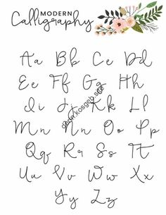 Free Printable Modern Calligraphy Alphabet modern calligraphy alphabet pdf<br> Looking to learn the art of calligraphy? Try a modern calligraphy font! Get started with this modern calligraphy alphabet printable today. Modern Calligraphy Alphabet, Hand Lettering Alphabet, Calligraphy Handwriting, Handwriting Fonts Alphabet, Calligraphy Doodles, Modern Caligraphy, Doodle Alphabet, Doodle Fonts, Cursive Calligraphy Alphabet