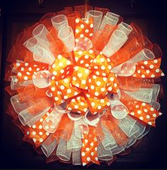 Orange and White Tennessee Vols Wreath! @ www.facebook.com/SassiSouthernStyle